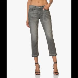 Current Elliott the cropped straight jeans